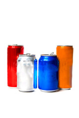 soda cans in different colors