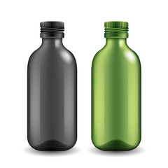 Set of realistic bottles : Vector Illustration