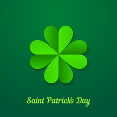 Saint Patrick day background with green clover