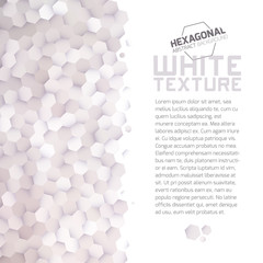 White hexagonal texture background