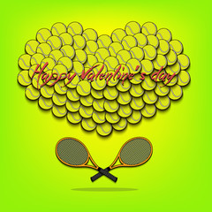 Valentine's Day and Heart from tennis balls