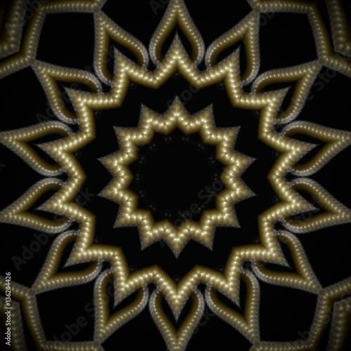 Stern 3D, Hintergrund Mandala, Ornament, Muster, Gold, goldener ...