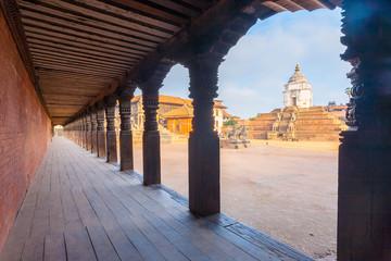 Bhaktapur Durbar Square Fasidega Temple Framed