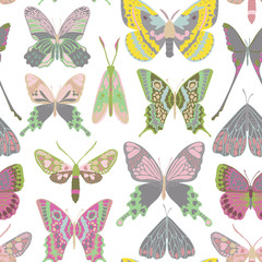 Vector butterfly pattern