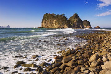 Rocky coast on the Izu Peninsula, Japan