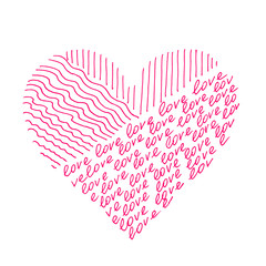 """Abstract pink heart from """"love"""""""