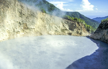 Keuken foto achterwand Fantasie Landschap Valley of Desolation, Dominica, Boiling Lake