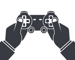 Hand holding game controller
