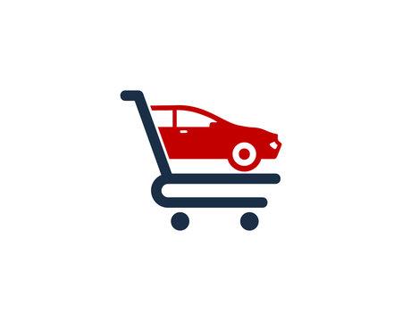 Car Shop And Shopping Logo Design Element