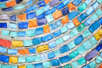 Texture Mosaic Tiles  Colorful Wave Background
