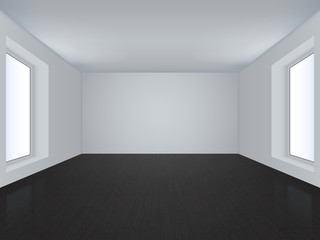 Vector white room.