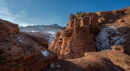 Charyn canyon in Almaty region of Kazakhstan