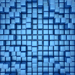 Abstract background of cubes in blue toned.