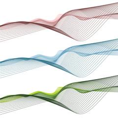 Sfondo di onde astratte colorate, onda verde, blu, rosa sullo sfondo bianco
