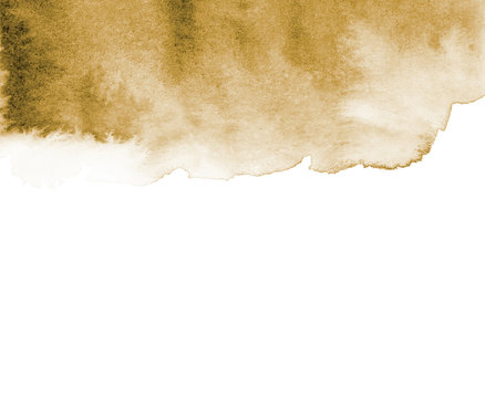 Brown abstract background in watercolor style