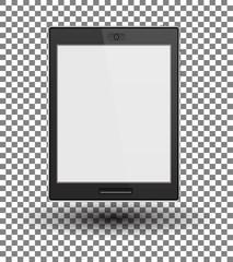 Modern black tablet, vector