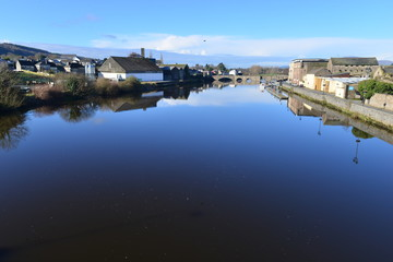 The River Suir at Carrick-on-Suir in County Tipperary, Ireland