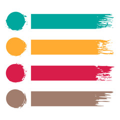 vector set of four colorful grunge stripes