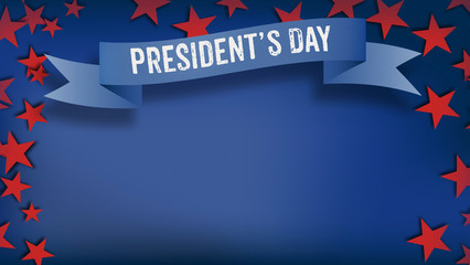 Presidents Day, US American color scheme