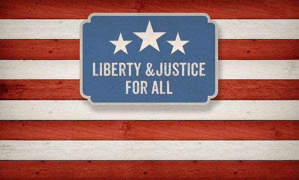 Liberty and Justic for all, US American color scheme