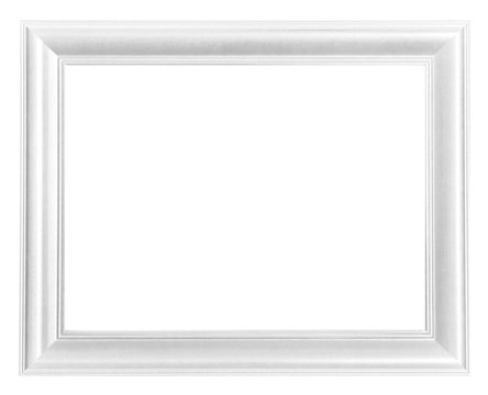 Picture frame white wood frame background
