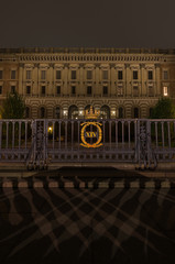 Entrance to the building of the Royal Palace in Stockholm. 05.11.2015