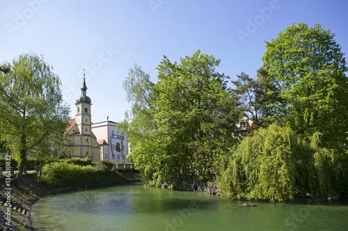 Seerhein In Konstanz Am Bodensee Baden Wuerttemberg Deutschland