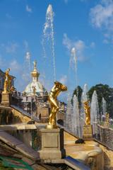 Fotobehang Parijs Fragment of Grand cascade in Petergof