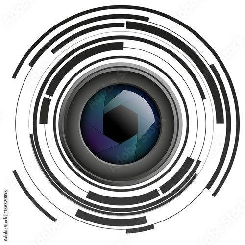 quotshutter apertures on abstract background camera