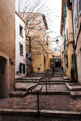 MARSEILLES, FRANCE - FEBRUARY, 2016: Old district of Le Panier,