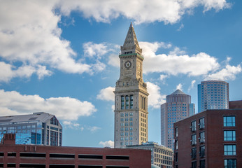 Boston Skyline and Custom House Clock Tower - Boston, Massachusetts, USA