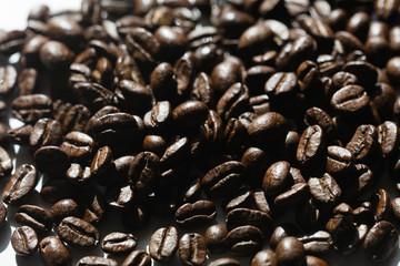 Black coffee grains