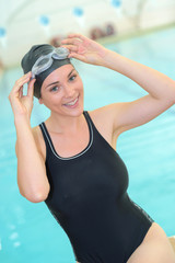 girl posing in swimwear