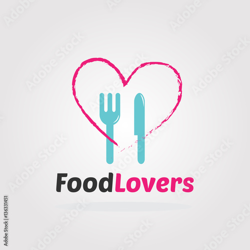 Food Love Logo Template Cooking Logo For Restaurant Bistro