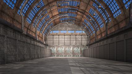 Alter verlassener Hangar