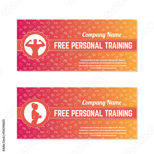 personal trainer gift certificate template - free personal training gift vouchers for fitness club or