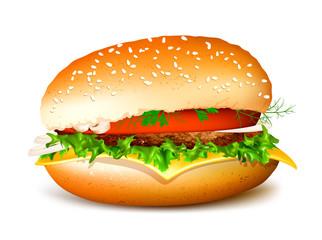 Hamburger Fully editable vector illustration