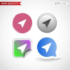 Pointer icon. Button with cursor icon. Modern UI vector.