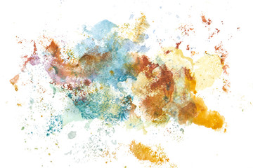 Abstract watercolor art hand paint. Background