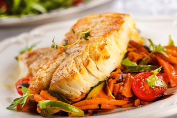 Fisch Gericht (kabeljau,dorsch)