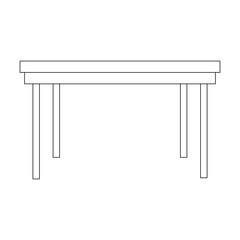 wooden table icon over white background. vector illustration