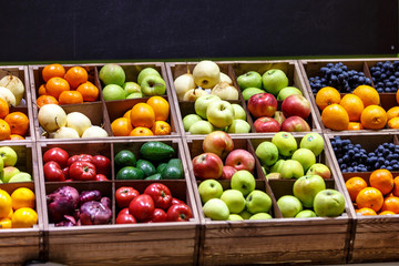 Apples, oranges, grapes, pears, and other fruits and vegetables