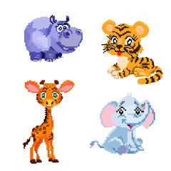 Image pixel art animals