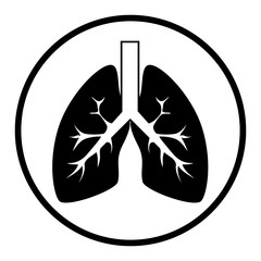 human lungs isolated icon vector illustration design