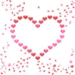 Liebe Valentinstag Herz aus Herzen