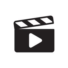 film clapper icon.