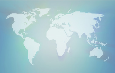 Glitchy World Map Background