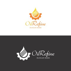 oil refine logo in vector