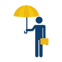 human silhouette insurance icon vector illustration design