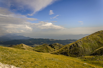 Montagna, veduta panoramica